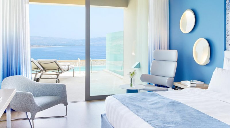 Double Room Sea View with Shared Pool Lindos Blu Hotel