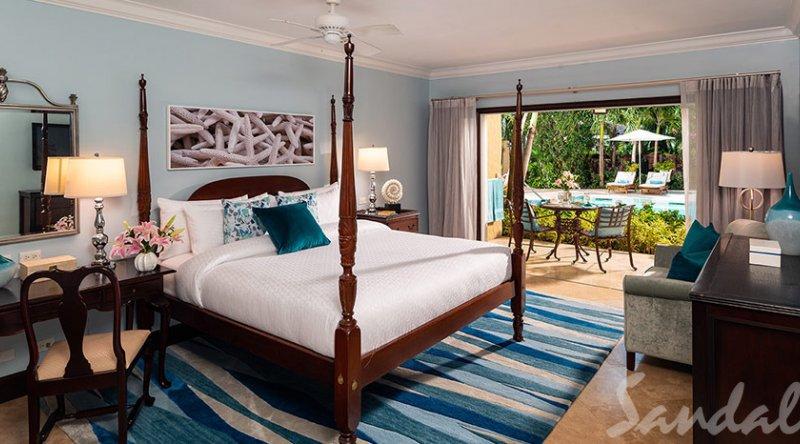 Caribbean Honeymoon Grande Luxe Poolside Walkout Room - Sandals Grande Antigua Resort & Spa