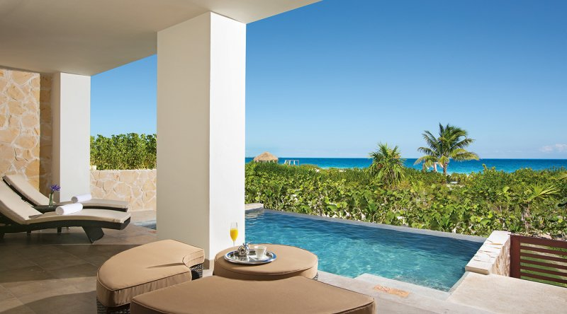 Preferred Club Master Suite Ocean Front Private Pool - Secrets Playa Mujeres Golf & Spa Resort