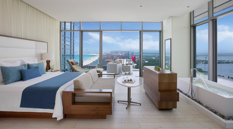 Honeymoon Suite Ocean View - Secrets The Vine Cancun