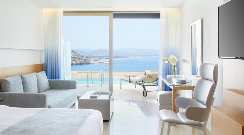 Junior Suite Sea View with Shared Pool Lindos Blu Hotel