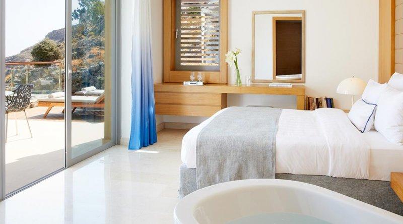 Private Pool Villa Panoramic Sea View Lindos Blu Hotel