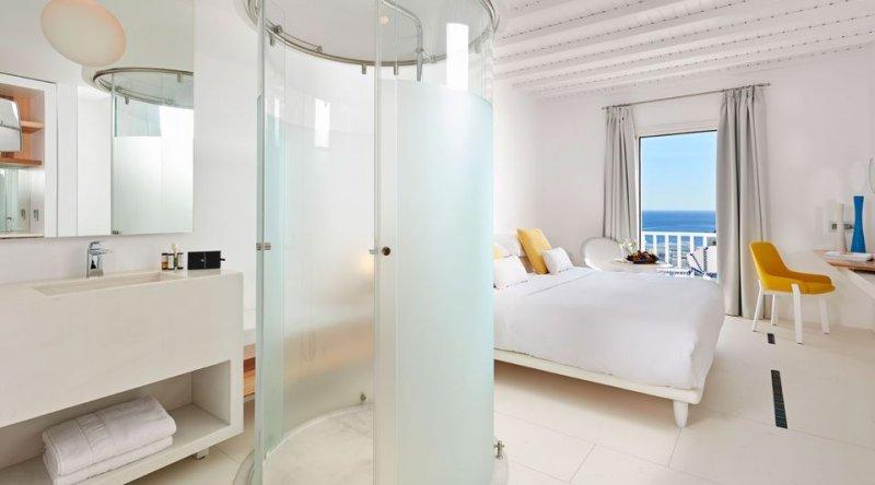 True Blue Panoramic Sea View Myconian Ambassador Relais & Chateaux Hotel