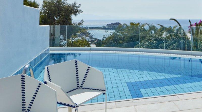Thalassa Suite with Private Pool Sea View Myconian Ambassador Relais & Chateaux Hotel