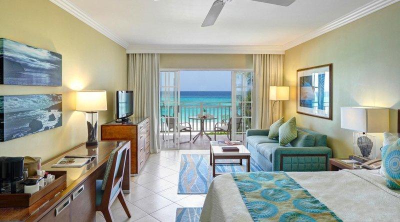Junior Suite Ocean Front Turtle Beach by Elegant Hotels