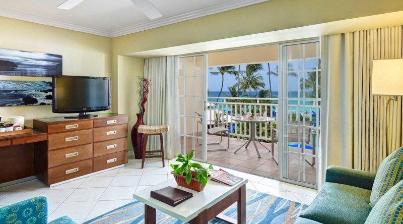 One Bedroom Ocean View Suite Turtle Beach by Elegant Hotels