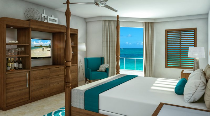 Italian Beachfront Club Level Junior Suite - Sandals South Coast