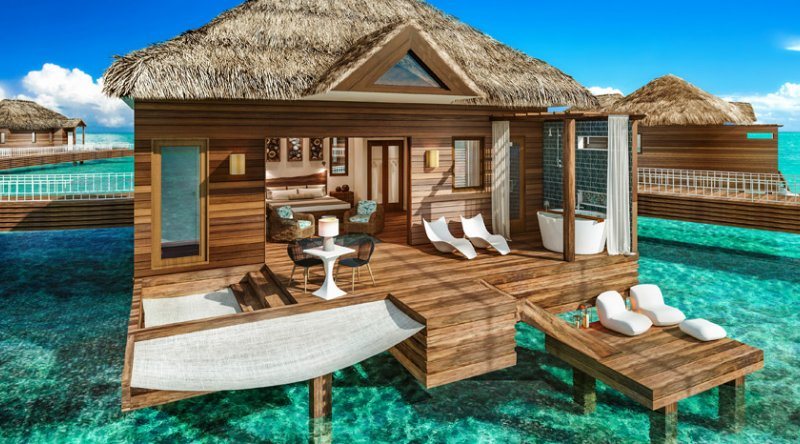 Over-the-Water Private Island Butler Honeymoon Bungalow - Sandals Royal Caribbean